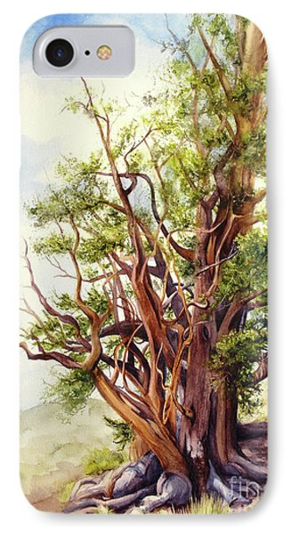 IPhone Case featuring the painting Bristle Cone Pine by Bonnie Rinier