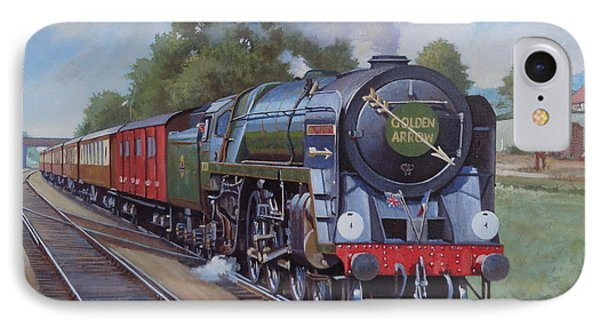IPhone Case featuring the painting Britannia Pacific On The Golden Arrow. by Mike  Jeffries