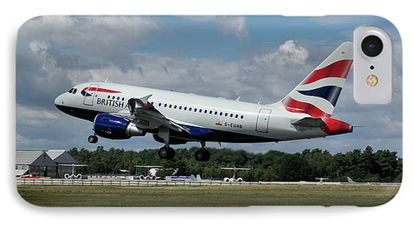 IPhone Case featuring the photograph British Airways Airbus A318-112 G-eunb by Tim Beach