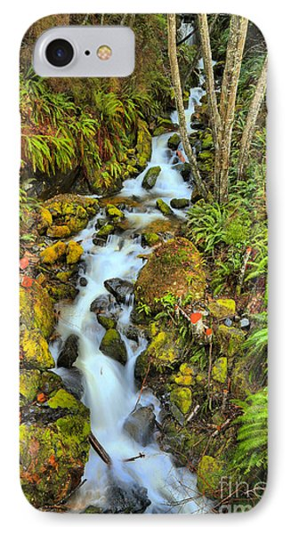 British Columbia Rainforest Falls IPhone Case by Adam Jewell