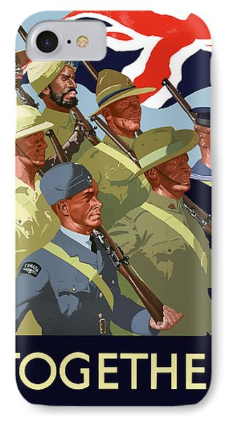 British Empire Soldiers Together Phone Case by War Is Hell Store