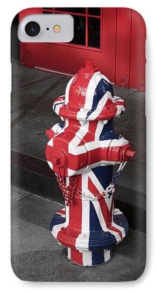 British Fire Hydrant Phone Case by Rae Tucker