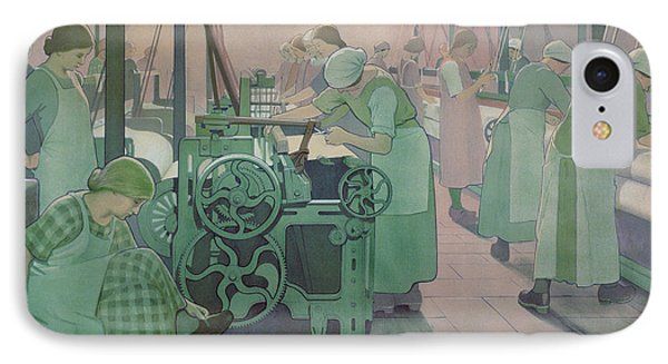 British Industries - Cotton IPhone Case by Frederick Cayley Robinson