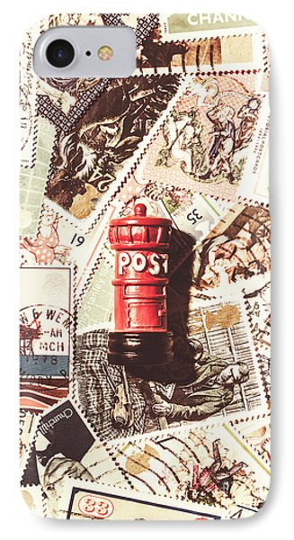 IPhone Case featuring the photograph British Post Box by Jorgo Photography - Wall Art Gallery