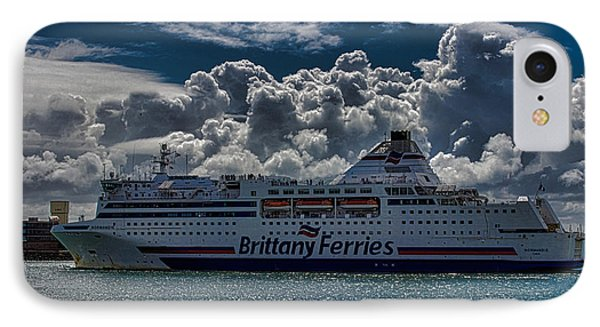 Brittany Ferry IPhone Case by Martin Newman