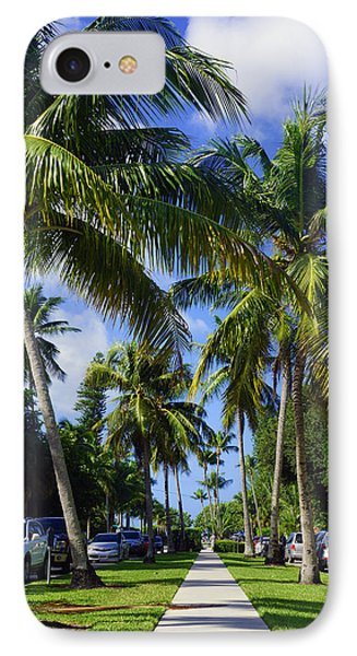 Broad Avenue South, Old Naples IPhone Case by Robb Stan