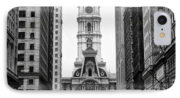 Broad Street At City Hall IPhone Case by Bill Cannon