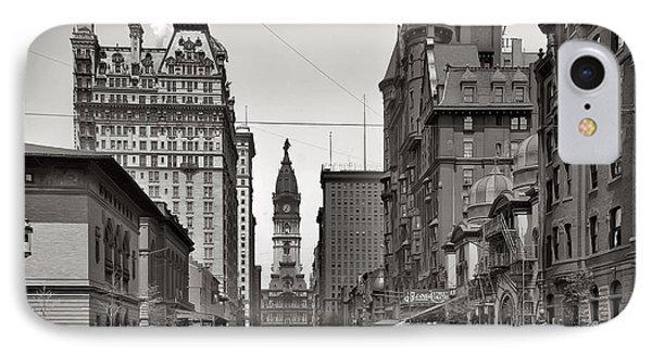 Broad Street Philadelphia 1905 Phone Case by Bill Cannon