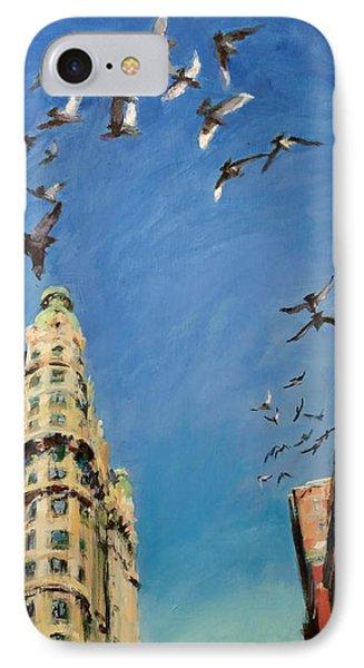 Broadway Pigeons No. 1 Phone Case by Peter Salwen