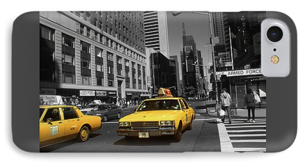 New York Broadway - Yellow Taxi Cabs IPhone Case