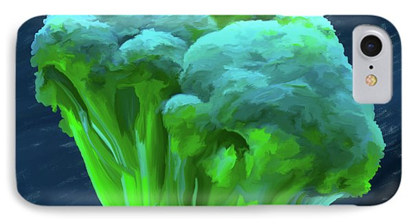 Broccoli 01 IPhone Case by Wally Hampton