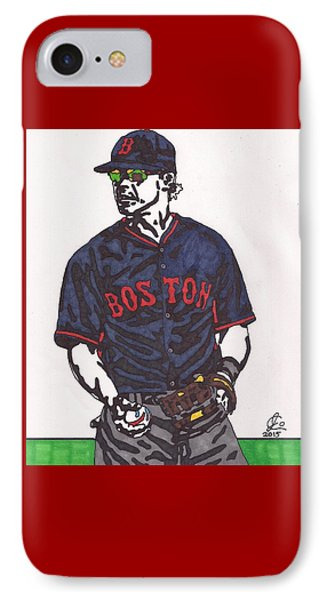 Brock Holt 1 IPhone Case by Jeremiah Colley