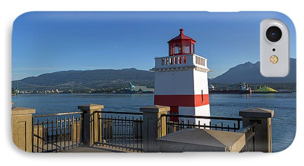Brockton Point Lighthouse In Vancouver Bc Phone Case by David Gn
