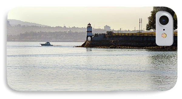 Brockton Point Lighthouse On Peninsula At Stanley Park Phone Case by David Gn