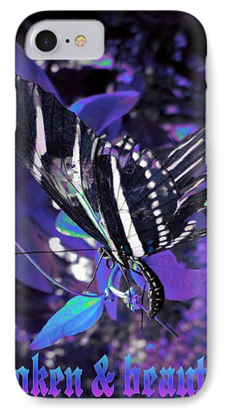 IPhone Case featuring the photograph Broken And Beautiful Butterfly by David Mckinney