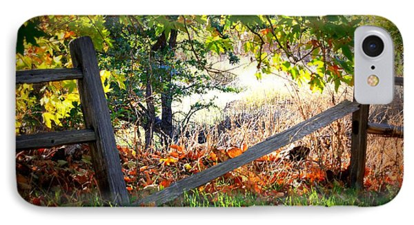 Broken Fence In Sycamore Park Phone Case by Carol Groenen