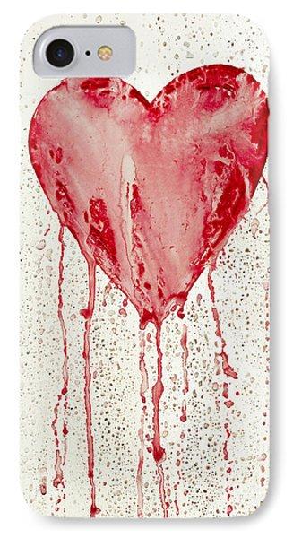 Broken Heart - Bleeding Heart Phone Case by Michal Boubin