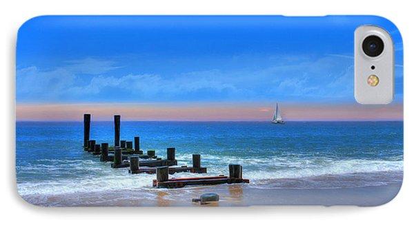 IPhone Case featuring the digital art Broken Pier by Sharon Batdorf