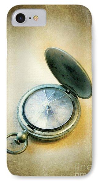 Broken Pocket Watch IPhone Case by Jill Battaglia