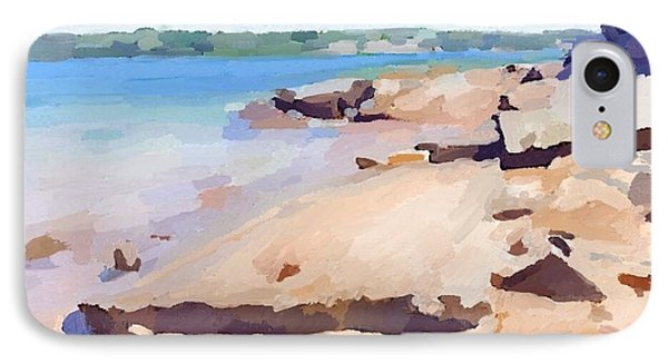 Broken Rock Walkway At Ten Pound Island Beach IPhone Case