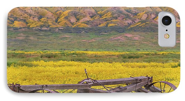 IPhone Case featuring the photograph Broken Wagon In A Field Of Flowers by Marc Crumpler