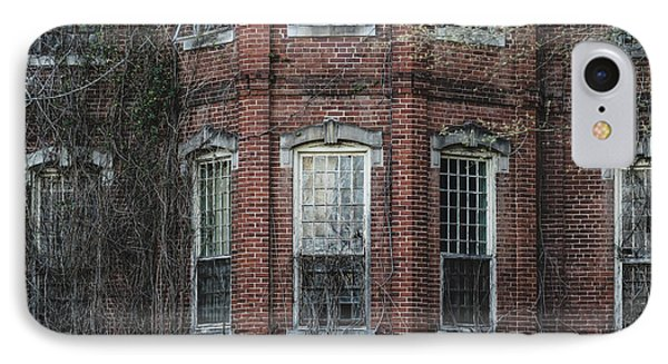 IPhone Case featuring the photograph Broken Windows On Abandoned Building by Kim Hojnacki