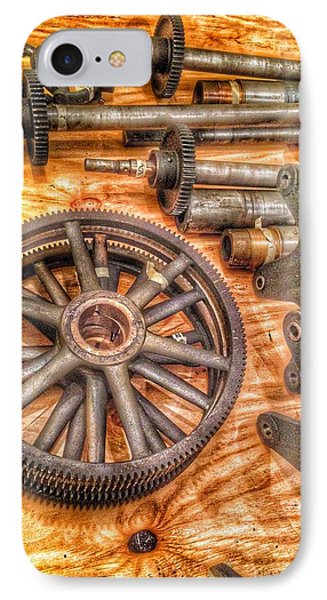 Bromo Seltzer Tower's 1911 Seth Thomas Clock Mechanism Abstract #2 IPhone Case by Marianna Mills