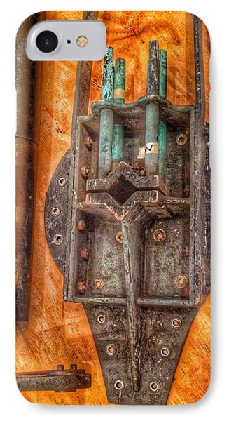 Bromo Seltzer Tower's 1911 Seth Thomas Clock Mechanism Abstract #4 IPhone Case by Marianna Mills