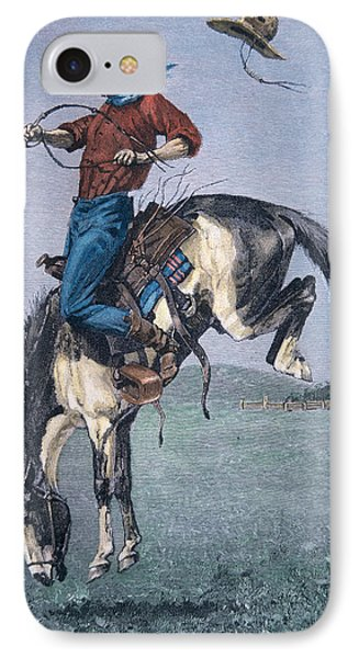 Bronco Buster IPhone Case by Frederic Remington