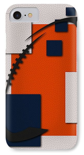 Broncos Football Art IPhone Case by Joe Hamilton