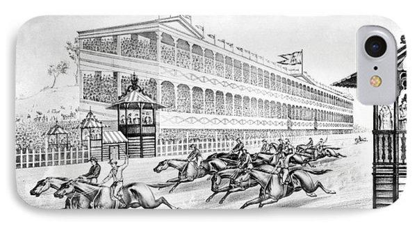 Bronx: Horse Race, 1866 Phone Case by Granger
