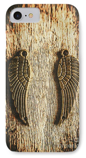 Bronze Angel Wings IPhone Case by Jorgo Photography - Wall Art Gallery
