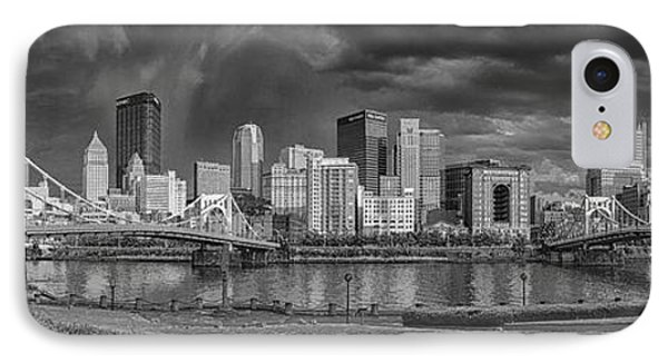 Brooding Above The Burgh IPhone Case by Jennifer Grover