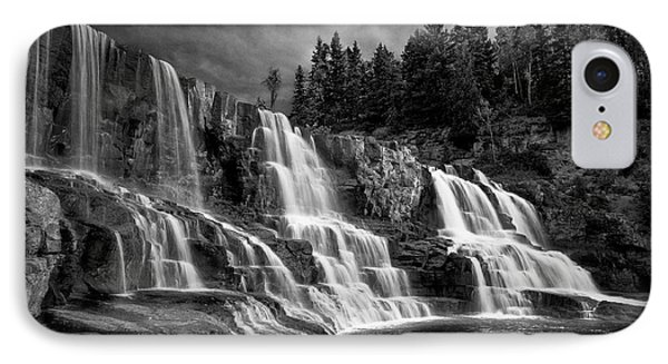 IPhone Case featuring the photograph Brooding Gooseberry Falls by Rikk Flohr