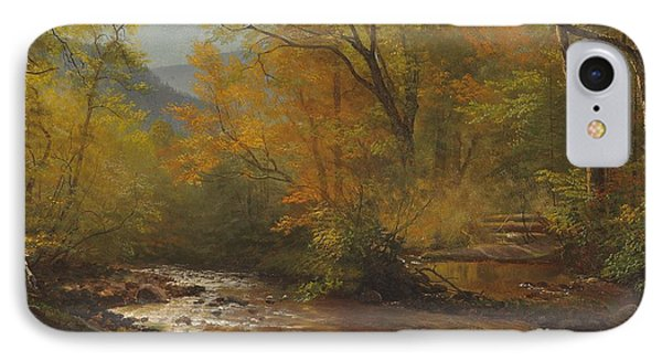 Brook In Woods IPhone Case by Albert Bierstadt