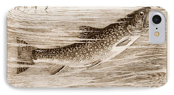 IPhone Case featuring the photograph Brook Trout Going After A Fly by John Stephens