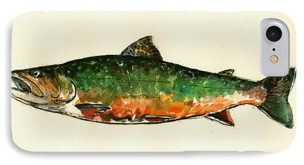 Brook Trout IPhone 7 Case by Juan  Bosco
