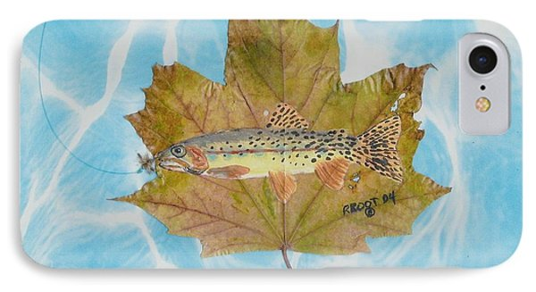 Brook Trout On Fly IPhone Case