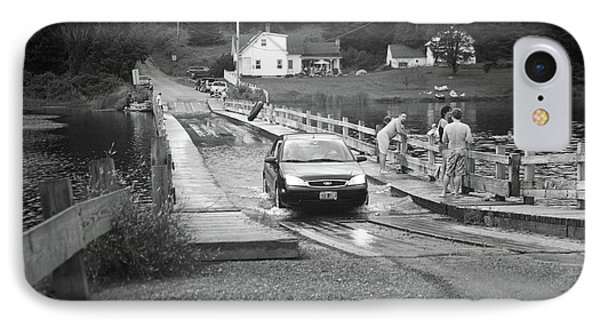 IPhone Case featuring the photograph Brookfield, Vt - Floating Bridge 3 Bw by Frank Romeo