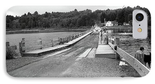 IPhone Case featuring the photograph Brookfield, Vt - Floating Bridge 5 Bw by Frank Romeo