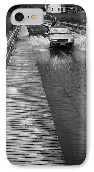 IPhone Case featuring the photograph Brookfield, Vt - Floating Bridge Bw by Frank Romeo