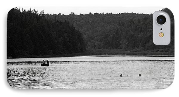IPhone Case featuring the photograph Brookfield, Vt - Swimming Hole 2006 Bw by Frank Romeo
