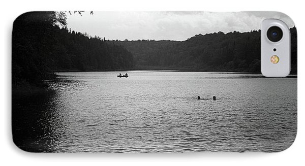 IPhone Case featuring the photograph Brookfield, Vt - Swimming Hole Bw 2 by Frank Romeo