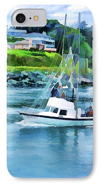 Brookings Boat Oil Painting IPhone Case by Wendy McKennon