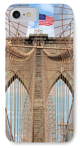 IPhone Case featuring the photograph Brooklyn Bridge 2  by Emmanuel Panagiotakis