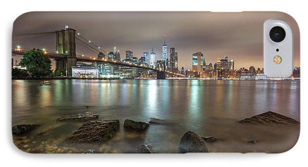 IPhone Case featuring the photograph Brooklyn Bridge At Sunrise  by Emmanuel Panagiotakis