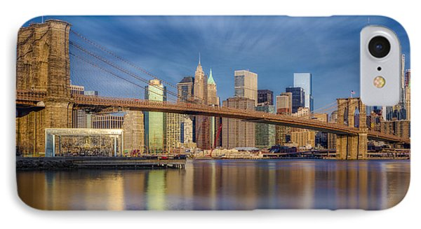 Brooklyn Bridge From Dumbo IPhone Case by Susan Candelario