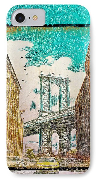 Manhattan Bridge From The East Side IPhone Case