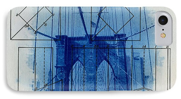 Brooklyn Bridge IPhone Case by Jane Linders