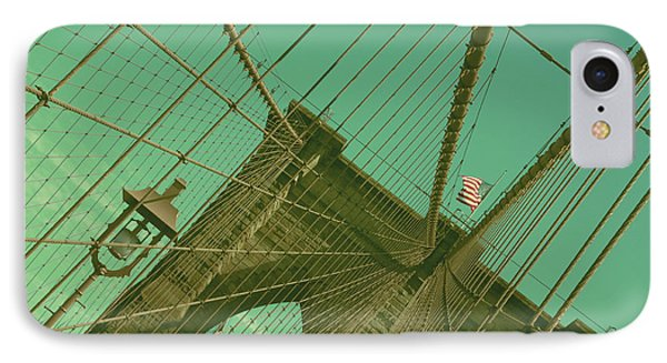 Brooklyn Bridge IPhone Case by Louise Fahy